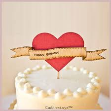 write name on happy birthday cake with heart add text photo