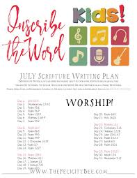 inscribe the word kids july scripture writing plan u2014 the