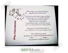 einladungskarten polterabend einladung zum polterabend 1 wedding wedding planer and weddings