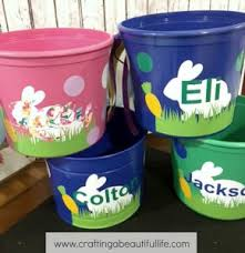 easter buckets last minute diy easter craft project for egg hunt
