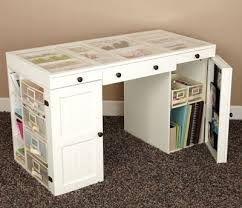 Small Craft Desk For Scrapbooking Table Craft Storage And Here S The Best Part We