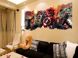 decoration the avengers wall sticker decals for kids room