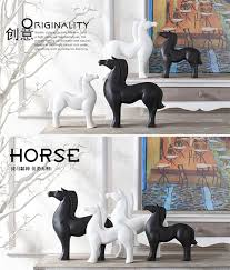 ceramic creative black and white abstract vase home ornaments