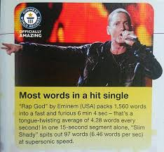 most words in a hit single guinness world records