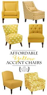 Overstuffed Arm Chair Design Ideas Easy Diy Easter Spring Decor Ideas Yellow Accent Chairs Accent