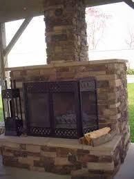 Eldorado Outdoor Fireplace by Eldorado V Natural Stone Veneer