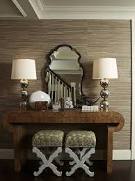 in love with everything about this the grasscloth wallpaper