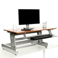 Dark Wood Office Desk Dt2 Standing Desk In Dark Wood Height Adjustable Heavy Duty Sit