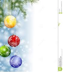 xmas snow ornaments border stock illustration image festive