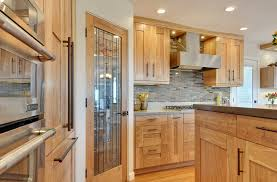 Transitional Red Birch Crystal Cabinets - Birch kitchen cabinets