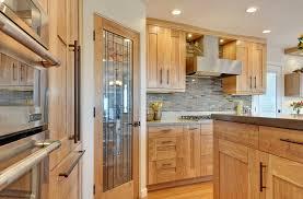 Transitional Red Birch Crystal Cabinets - Birch kitchen cabinet