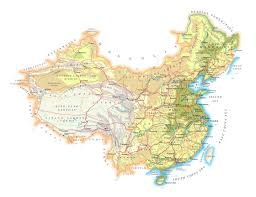 China Map Cities by Detailed Physical Map Of China With Roads Cities And Airports
