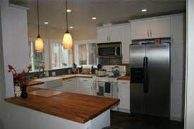 Black Kitchen Cabinets With Stainless Steel Appliances Countertops Contemporary Kitchen Butcher Block Countertop Black