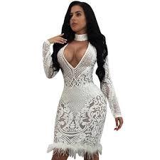 black and white dresses black white sequin dress women v neck tassel mesh club bodycon