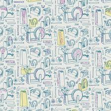 illustrating patterns creating hand drawn wallpaper julia