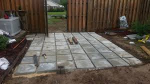 Concrete Slabs For Backyard by Charming Ideas Inexpensive Patio Pavers Magnificent Backyard
