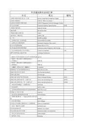 si鑒e d appoint auto 中文英文缩写中兴通讯块专业词汇库