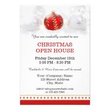 Open House Invitations Christmas Open House Invitations Learntoride Co