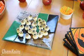 chemknits halloween party food