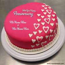 anniversary cake heart shape anniversary cake pics with name wishes greeting card