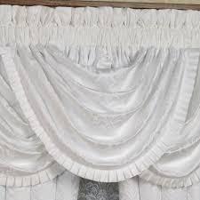 carmella puff jacquard damask white window treatment by j queen