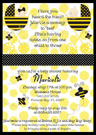 bumblebee baby shower bumble bee baby shower invitations for