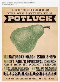 mount vernon farmers market season kick open potluck invite