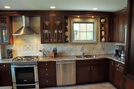 kitchen cabinet mission style accessories tile backsplash
