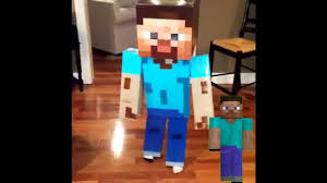 Mine Craft Halloween Costumes by Real Life Minecraft Steve Compared To Game Steve Halloween 2014 5