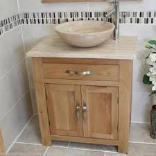 Oak Bathroom Cabinet Bathroom Vanity Unit Oak Modern Cabinet Wash Stand Travertine Top