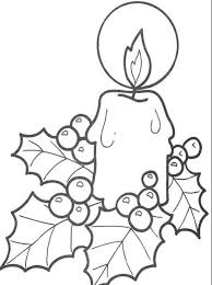 simple free coloring pages christmas candle printable