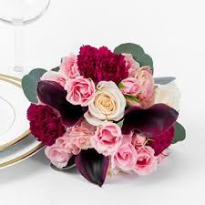 bridesmaid bouquets marsala enchanted wedding collection bridesmaid bouquets 2 pc