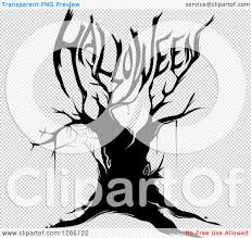 spider web transparent background clipart of a black bare tree with a spider web and branches