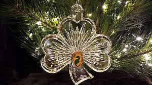 waterford shamrock ornament clear with enhancer 2013