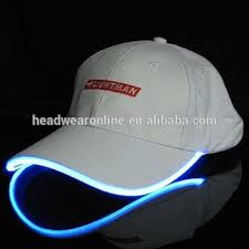 hats with lights built in cap with built in led light flashing caps fiber optic hats led buy