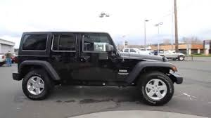 jeep sport black 2014 jeep wrangler unlimited sport black el146359 mt vernon