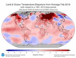 National Temperature Map Noaa Earth Had Its 10th Straight Record Warm Month In February