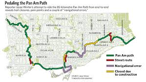 me a map of where i am construction and confusion on the pan am path toronto