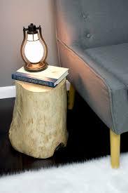 Log Side Table Diy Log Side Table Gray House Studio
