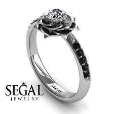 unique engagement ring unique engagement ring 14k white gold 0 25 carat cut