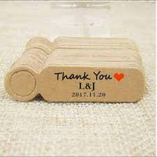 wedding gift price custom logo wedding gift tag cardboard kraft products label