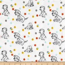 white polka dot flannel fabric