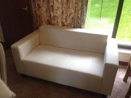 Flat Pack Settee Reduced For Quick Sale Small Compact Ikea Klobo 2 Seater Sofa