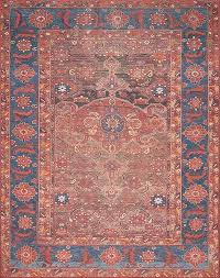 Rust Area Rug Lucca Lf 07 Rust Blue Area Rug Magnolia Home By Joanna Gaines