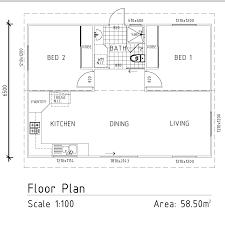 2 bedroom granny flats floor plans