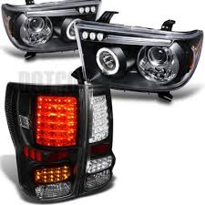 2010 toyota tundra tail light bulb replacement toyota tundra 2007 2013 black projector headlights and led tail