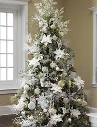 White Christmas Tree Green Decorations by Wintery Whites