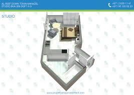 3d floor plans of al reef downtown studio apartment al reef