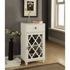 glass cabinet doors home depot acme furniture ceara white storage cabinet 97378 the home depot