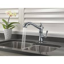 delta chrome kitchen faucets delta faucet 4197 ar dst cassidy arctic stainless pullout spray